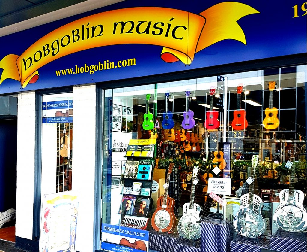 Hobgoblin Music Birmingham Shop Front