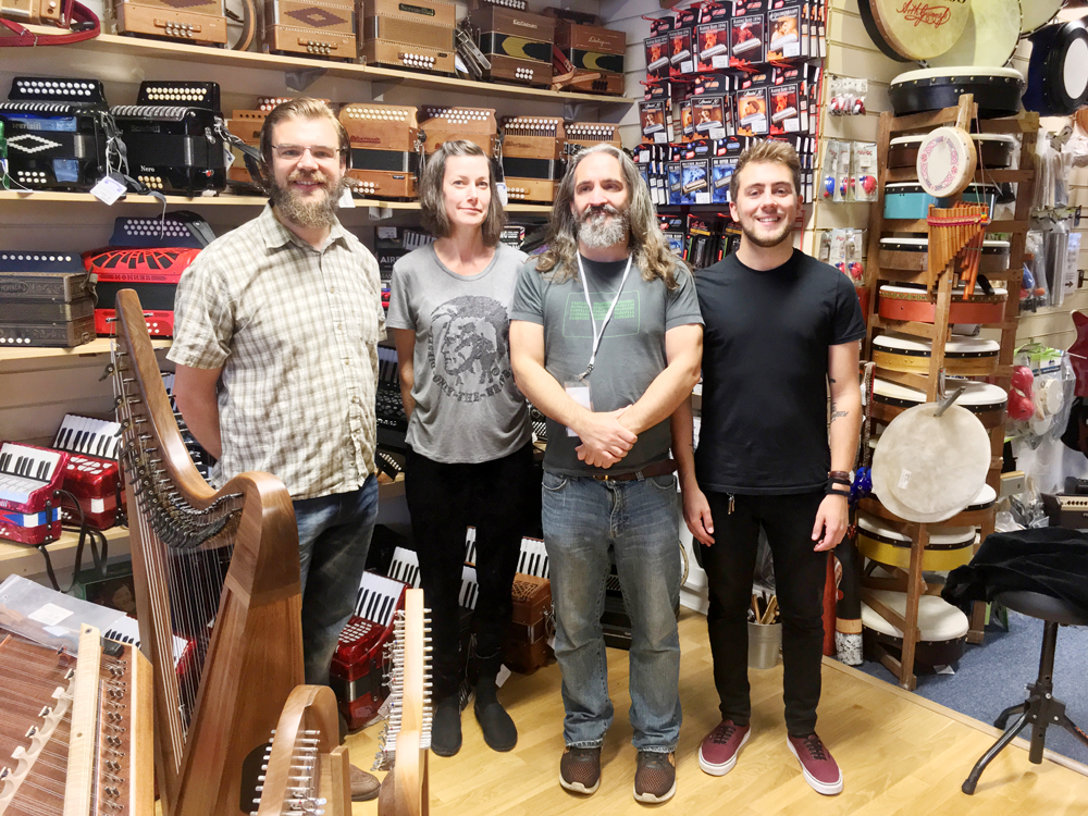 Staff at Hobgoblin Music in Brighton