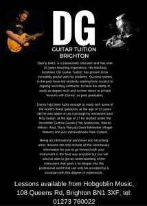 Top Flight Guitar Tuition in Hobgoblin Brighton!