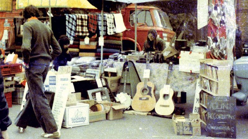 Mannie at Burgess Hill Market, 1976