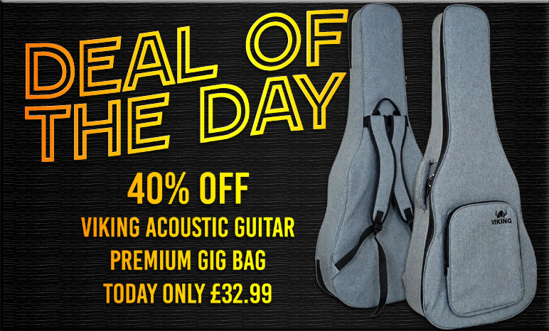 Deal of the day, 40% off the Viking Premium Acoustic Guitar Bag
