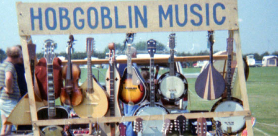 Hobgoblin Music at Towersey Folk Festival 1978