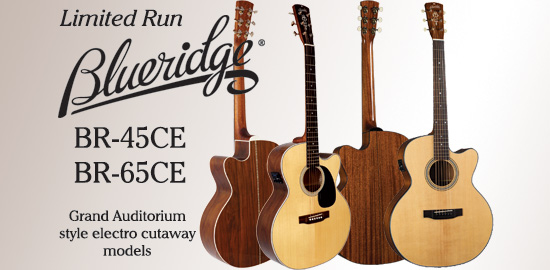 Blueridge Grand Auditorium style models available for a limited run only