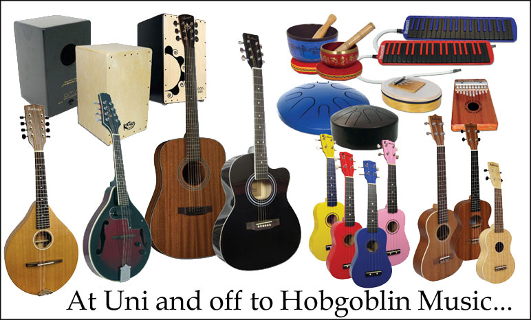 At Uni and off to Hobgoblin Music
