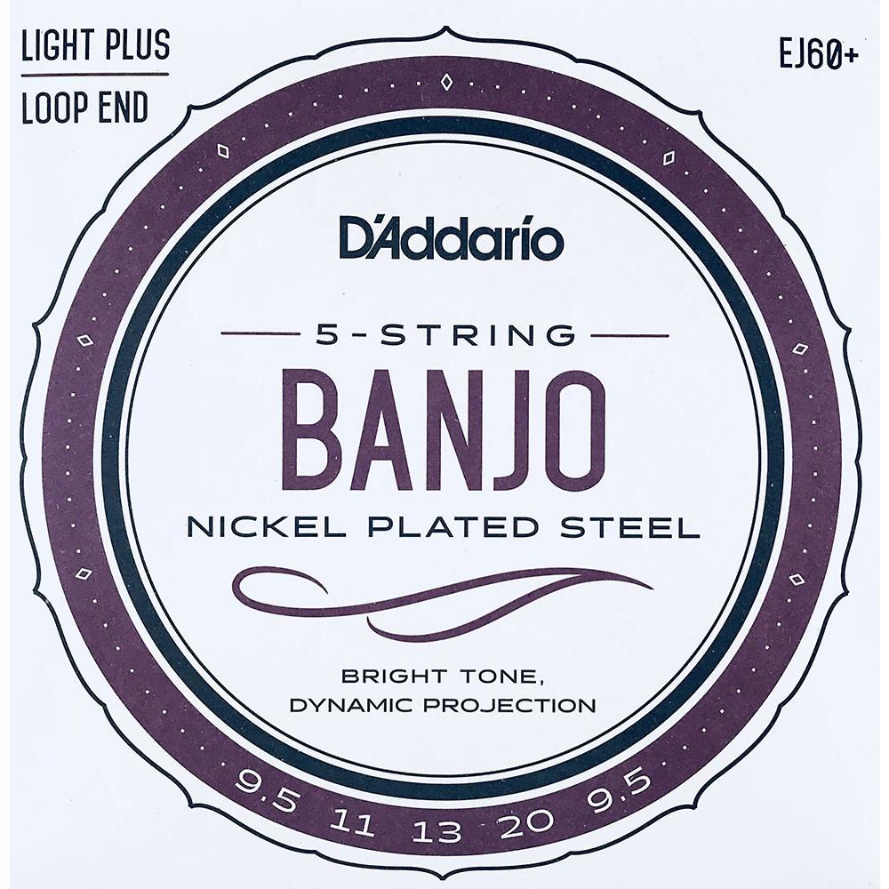 D'Addario EJ60+ 5 string Banjo Strings