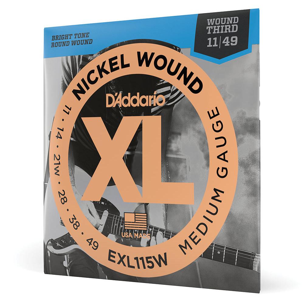 D'Addario EXL115W Nickel Wound Electric Strings