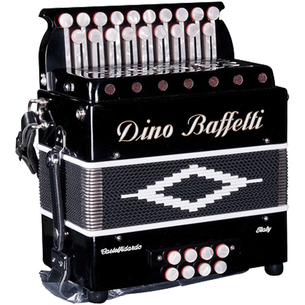 Dino Baffetti Black Pearl II D/G 2 Row Melodeon