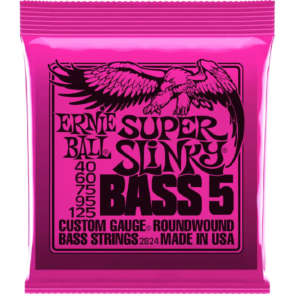 Ernie Ball P02824 Super Slinky 5st Bass Strings