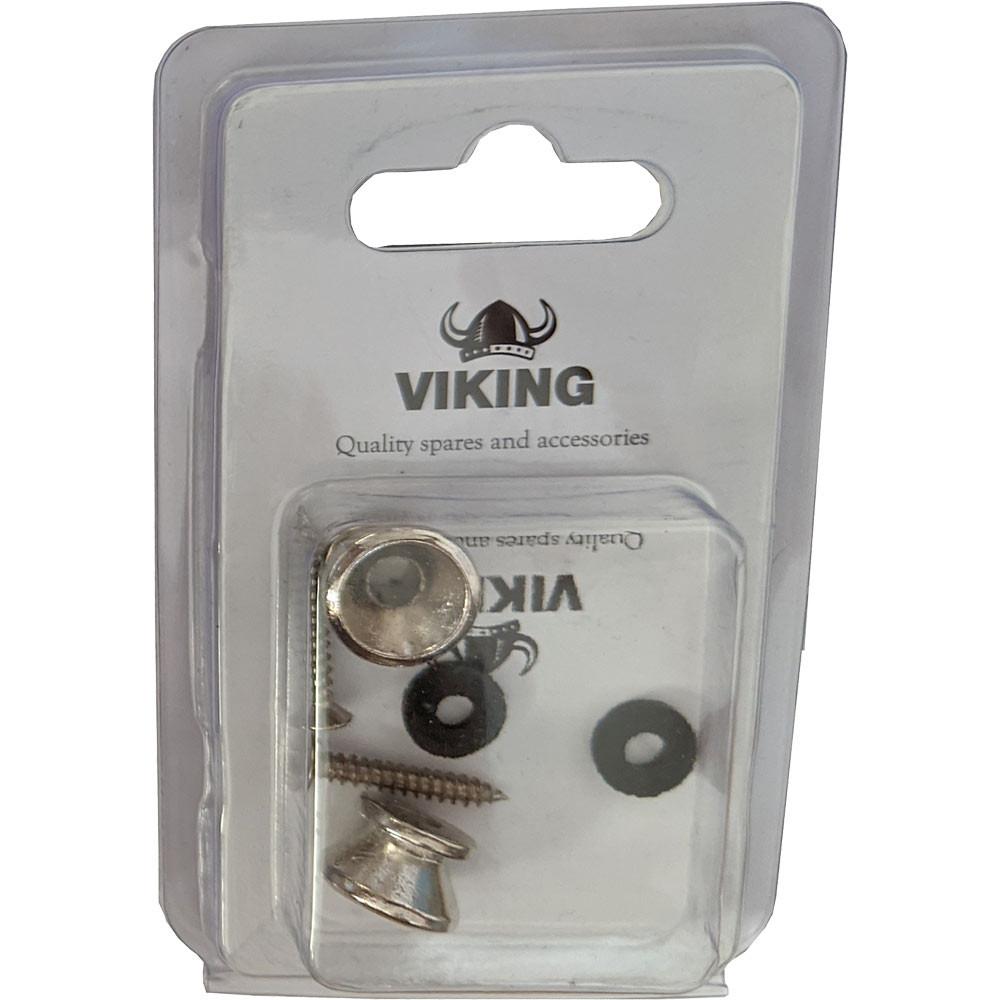 Viking GSB-10N Nickel Strap Buttons, Pair