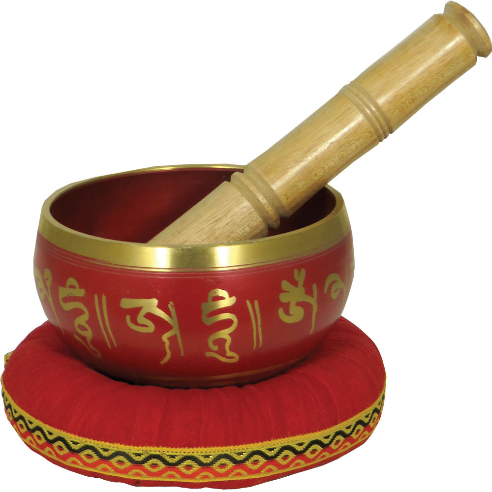 Atlas AP-E504 Singing Bowl, 4inch in Red
