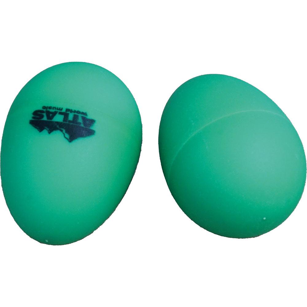 Atlas Pair of Shaky Eggs, Green