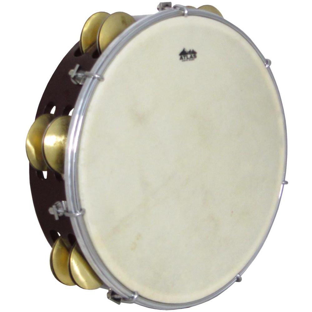 Atlas 10inch Maple Tambourine, Double