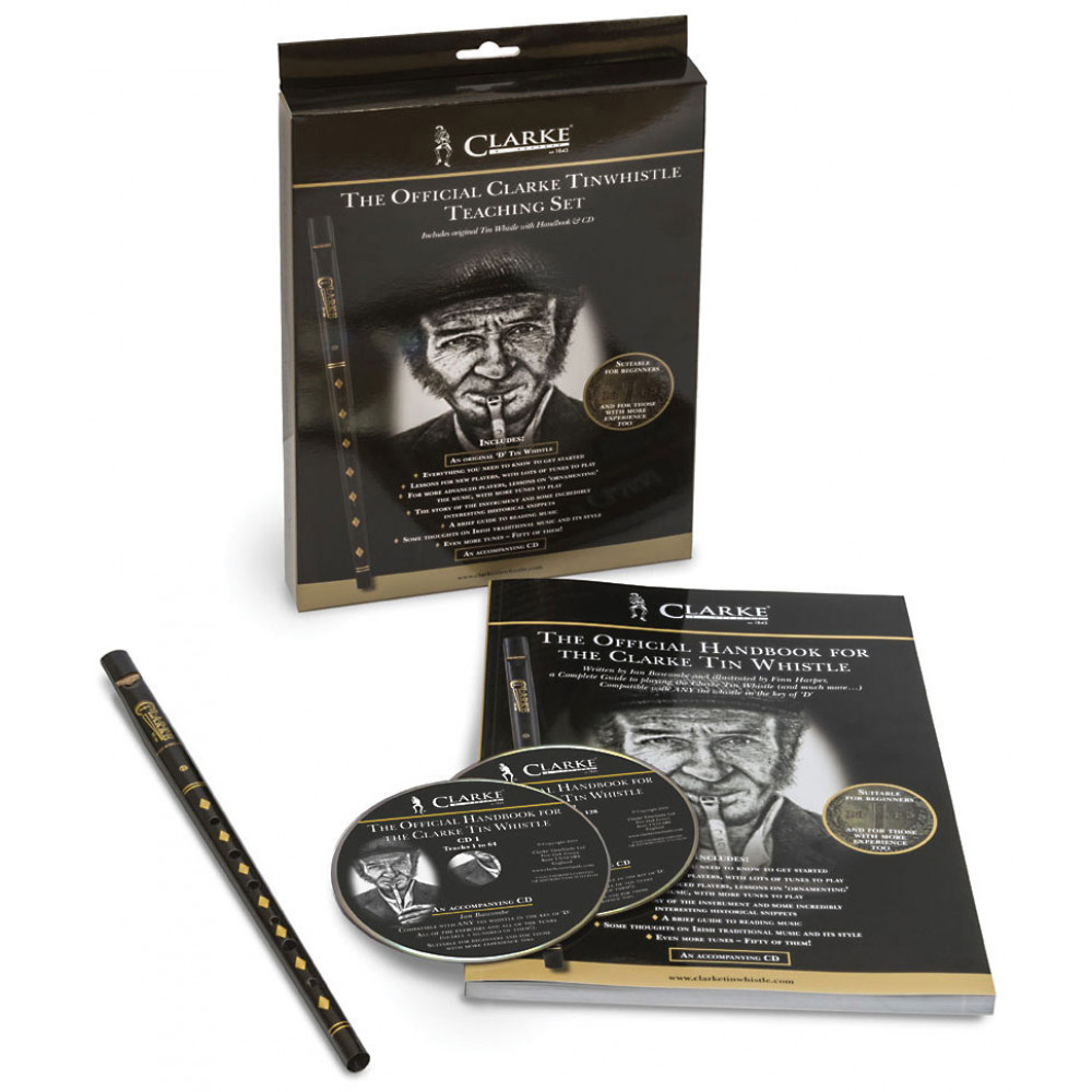 Clarke High D Whistle Set, Book/CD