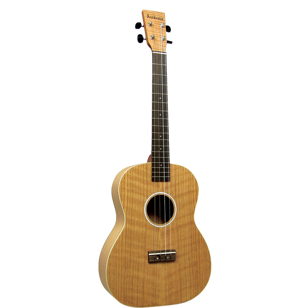 Ashbury AU-40B Baritone Ukulele, Flamed Oak