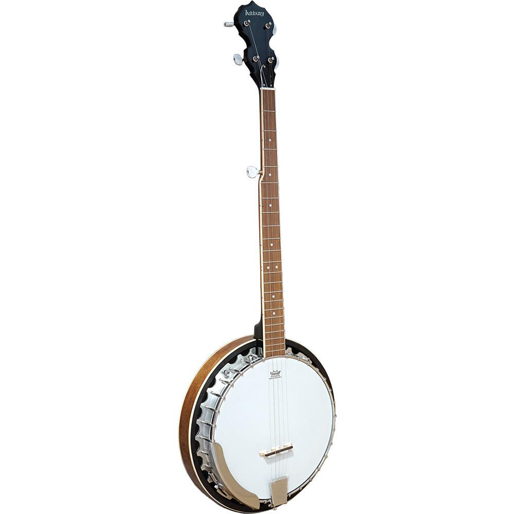 Ashbury AB-35-5 5 String Banjo, Mahogany Rim