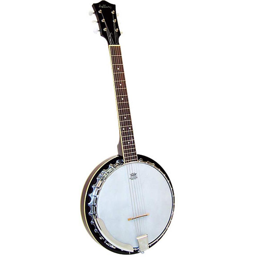 Ashbury AB-35G 6 String Guitar Banjo, Mahogany