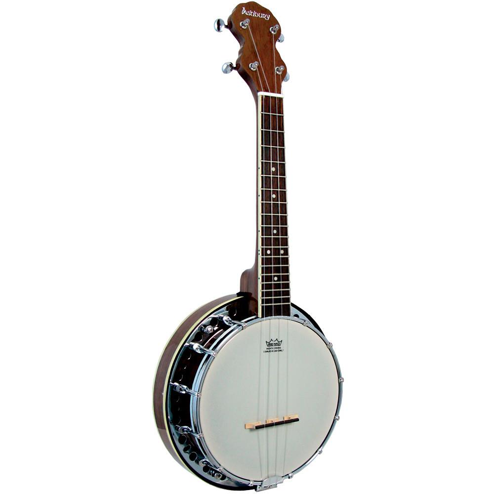 Ashbury AB-34U Ukulele Banjo, Resonator, Walnut