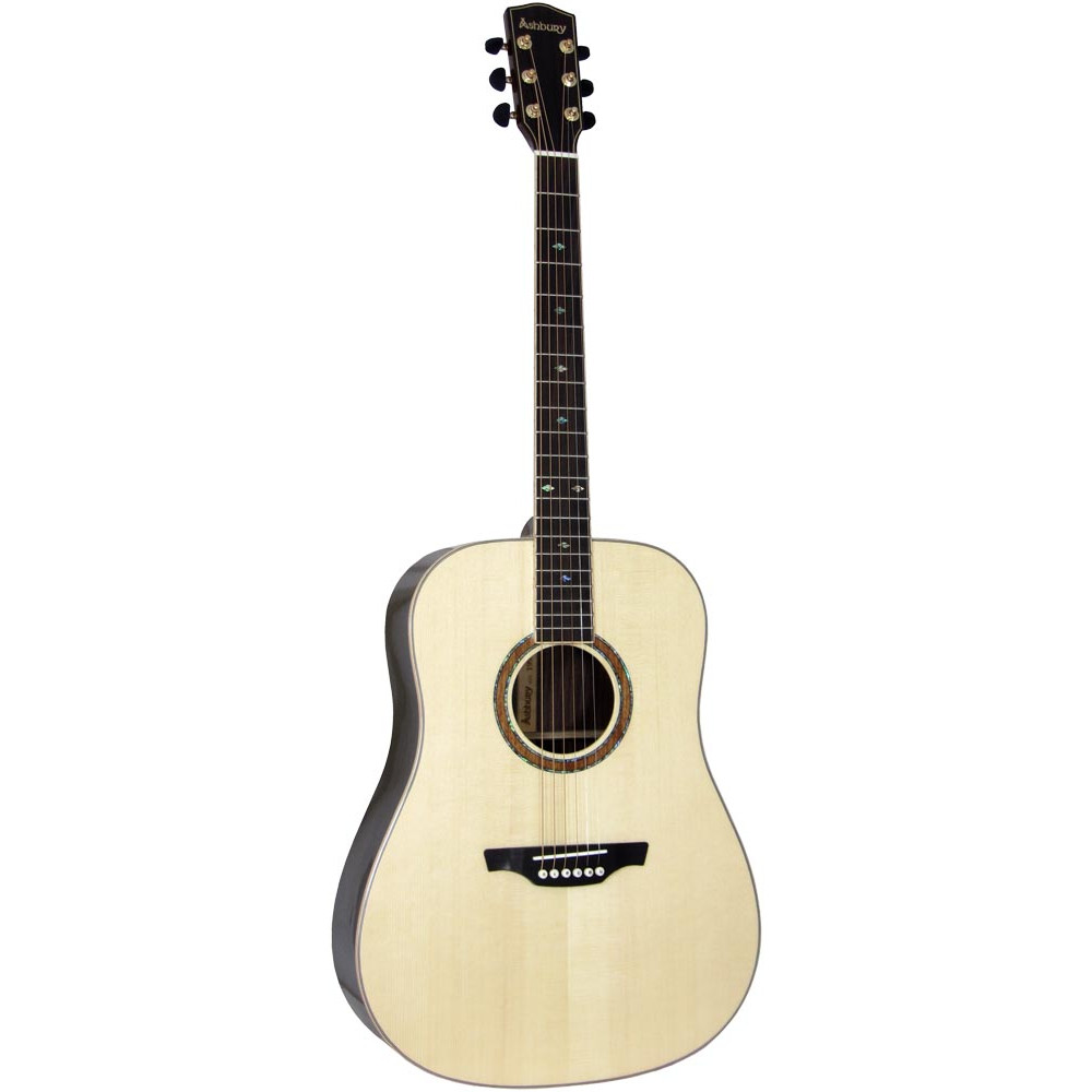 Ashbury AG-164 Dreadnought Guitar, Solid Spruc