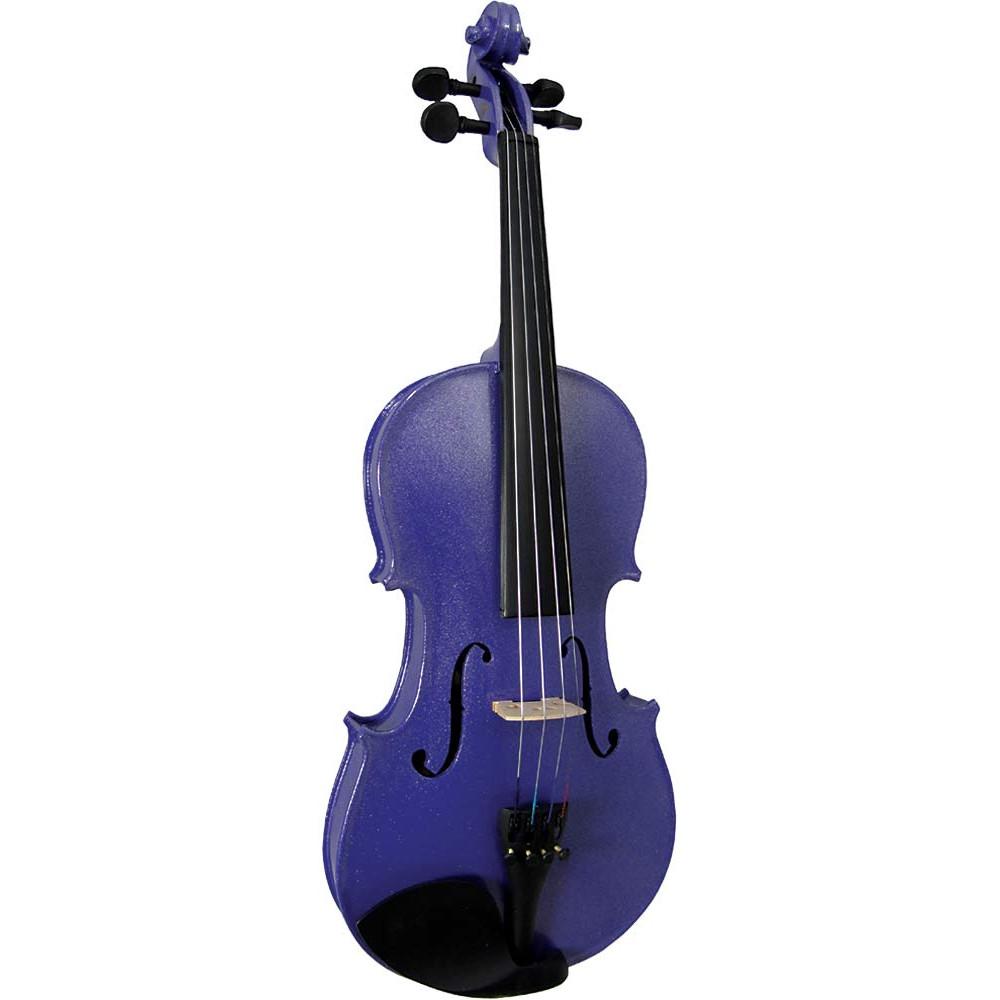 Blue Moon VG-105 Purple Violin, 3/4 Size