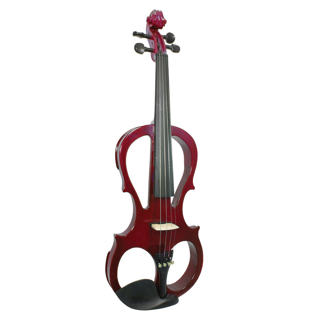 Valentino VE-008 Electric Frame Violin, Red