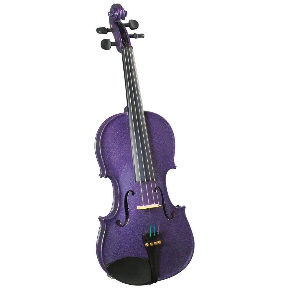 Cremona SV-75PP 1/2 Size Novice Violin. Purple