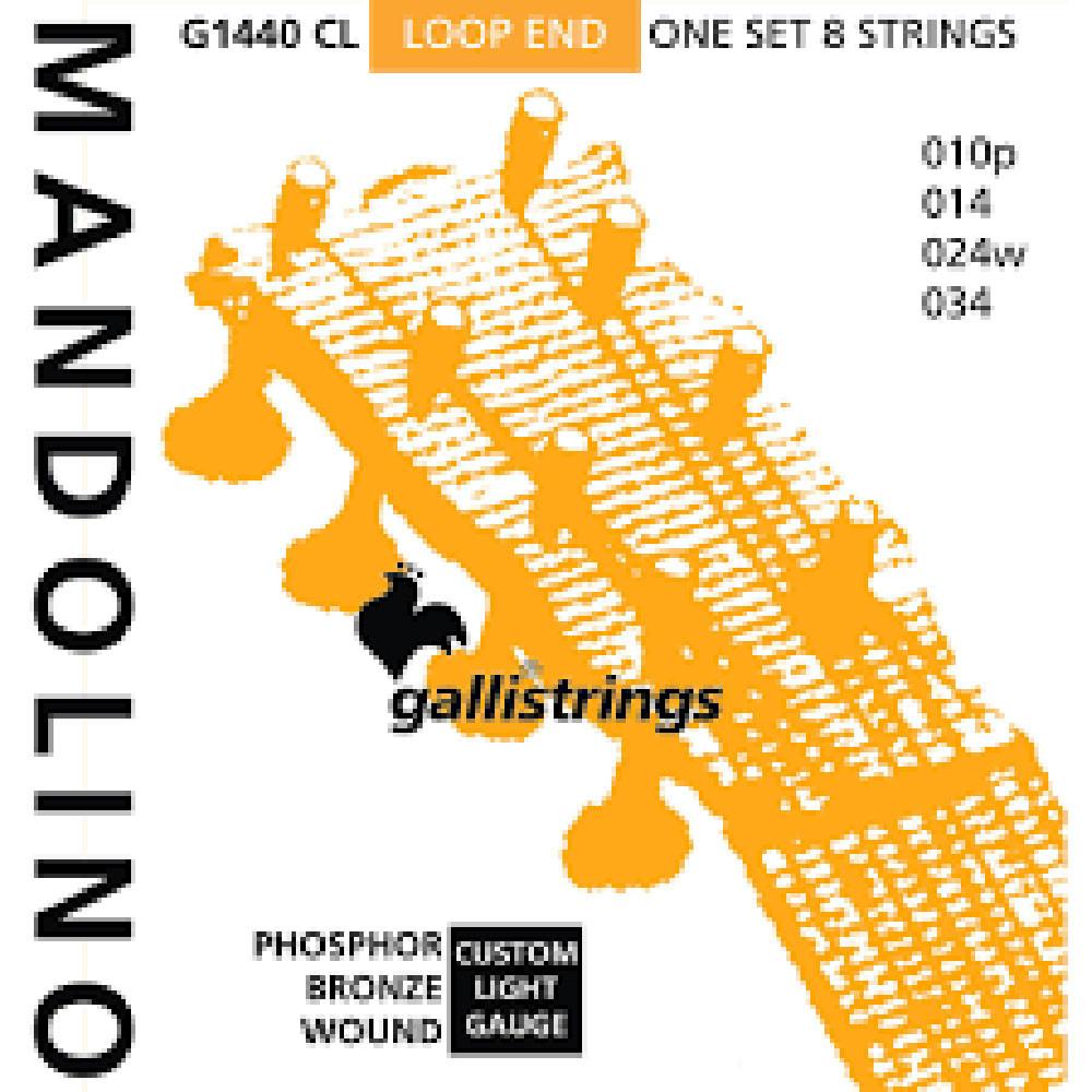 Galli G1430CL Mandolin Strings, Ph/Bz. Light