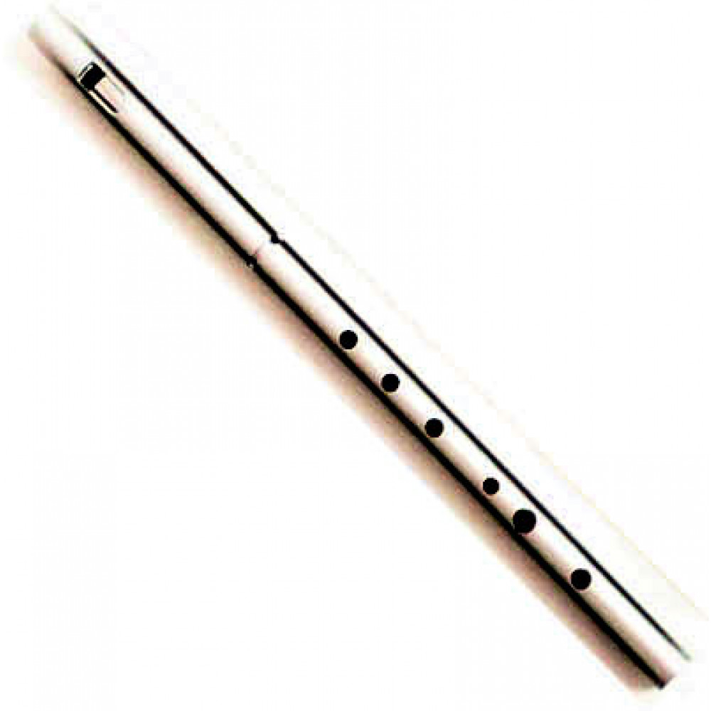 MK Pro Low F Whistle, Silver