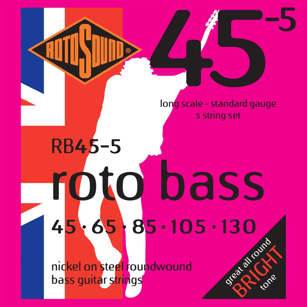 Rotosound RB45-5 Roto Bass Strings, 5 String