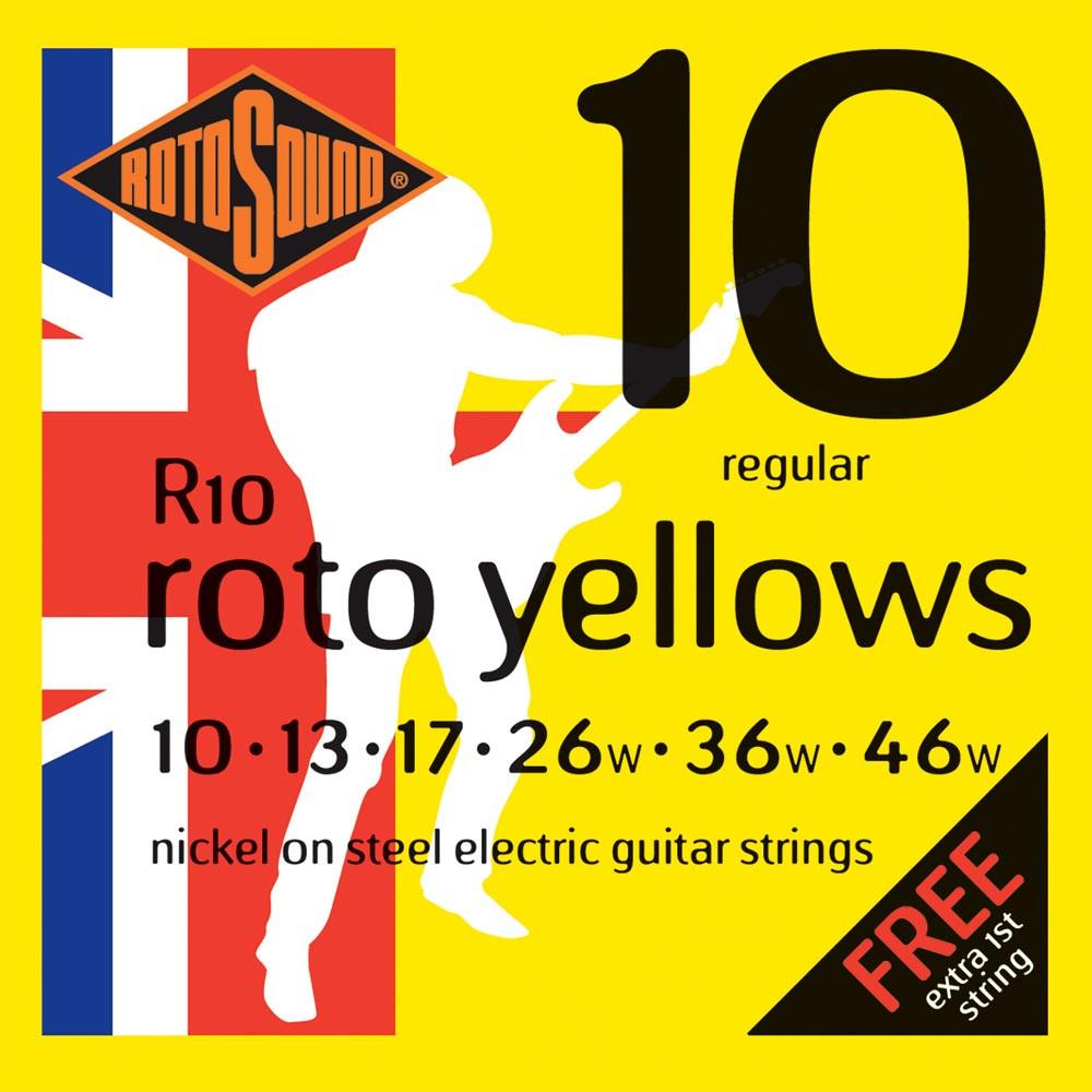 Rotosound R10 Roto Yellow Elec Guitar Set