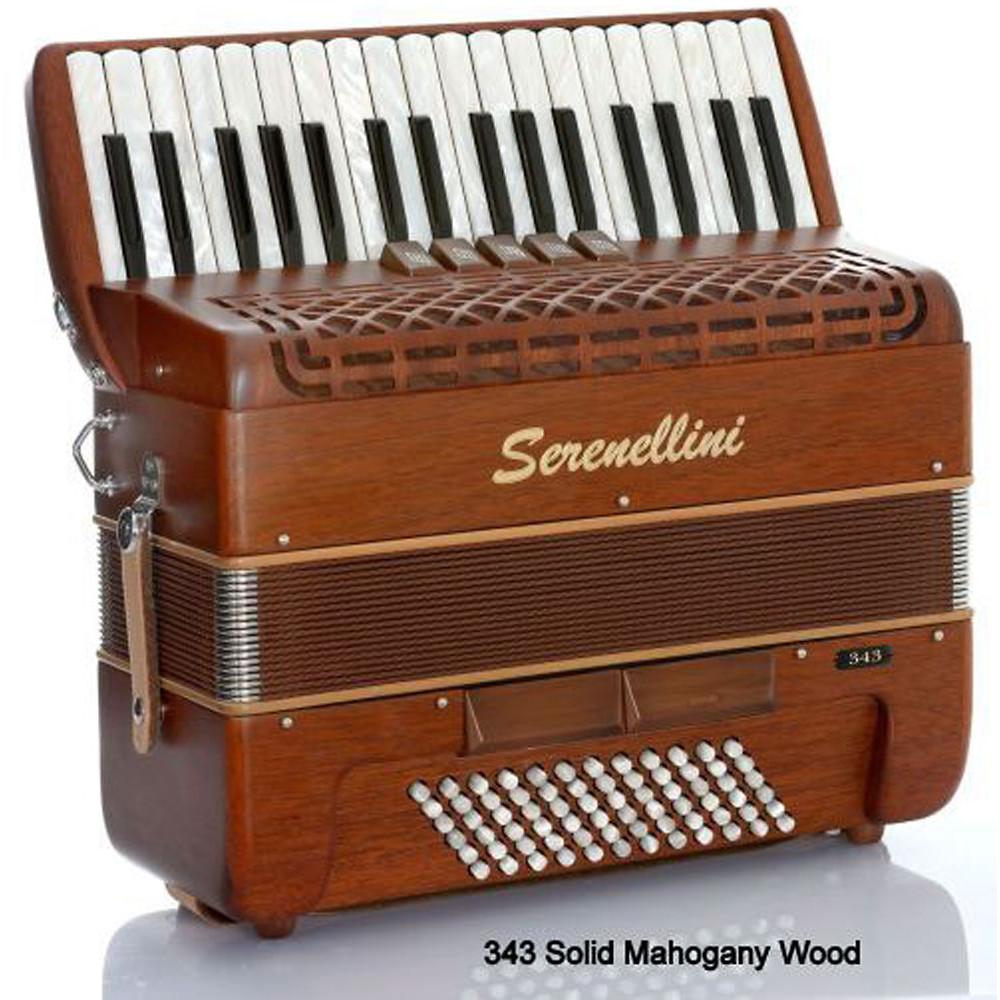 Serenellini Solo 72 Bass Accordion, Mahogany