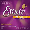 Elixir NanoWeb Guitar Set, Custom Light.Ph/Bz