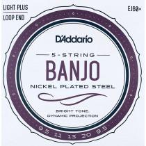 Daddario EJ60+ 5 string Banjo Strings