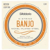 Daddario EJ61 5 string Banjo Strings, M