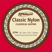 D'Addario EJ27 Single B Nylon String