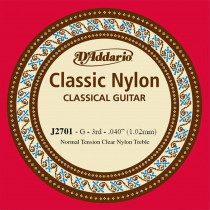 Daddario EJ27 Single G Nylon String