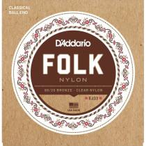 Daddario EJ33 Folk Nylon Guitar Strings