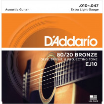 Daddario EJ10 Acoustic Guitar Strings