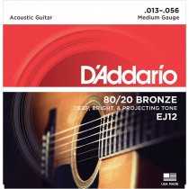 Daddario EJ12 Acoustic Guitar Strings