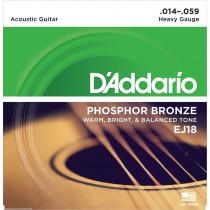 Daddario EJ18 Acoustic Guitar Strings