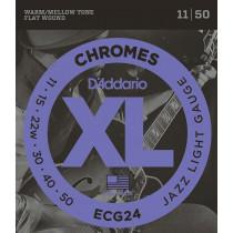 Daddario ECG24 Chromes Guitar Strings. Jazz L
