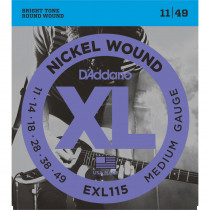 Daddario EXL115 Electric Guitar Strings