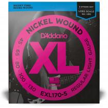 D'Addario EXL170-5 5-String Bass Strings