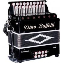 Dino Baffetti Melodeons Black Pearl II D/G 2 Row Melodeon