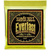 Ernie Ball Everlast 80/20 Guitar Strings, Lights