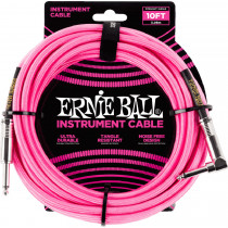 Ernie Ball P06078 10ft Braided Inst Cable. N/P