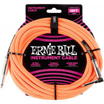 Ernie Ball P06084 18ft Braided Inst Cable. N/Or