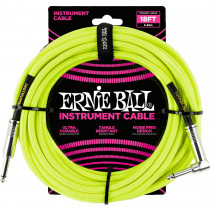 Ernie Ball P06085 18ft Braided Inst Cable. N/Y
