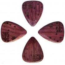 Timber Tones Classic 351 Purpleheart Single Pick