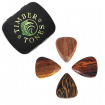 Timber Tones Acoustic Mixed Gift Tin of 4 Wood Picks