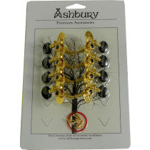 Ashbury AS-2018 Mandolin Machine Heads, Gold